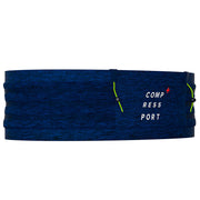 COMPRESSPORT ANTI-BOUNCE FREE BELT PRO W/POLE HOLDER - BLUE