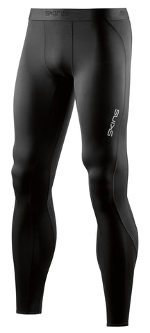 [PRE-ORDER] SKINS DNAMIC MENS LONG TIGHTS BLACK/SILVER