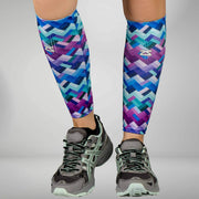 ZENSAH COMPRESSION LEG SLEEVES - GEO WAVES