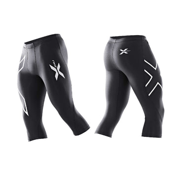 2XU Men 3/4 Compression Tights Black/Black