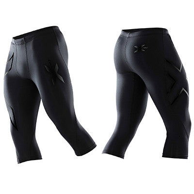 2XU MEN'S PWX 3/4 COMPRESSION TIGHT - BLACK NERO