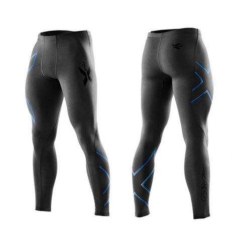 2XU Men's Compression Tights - Pacific Blue