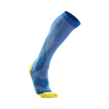 2XU Men's Compression Socks - Vibrant Blue Canary Yellow