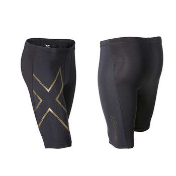 2XU Men's Elite MCS Compression Shorts - Black Gold