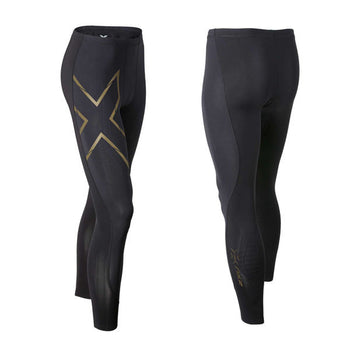 2XU Men's Elite MCS Compression Tights - Black Gold