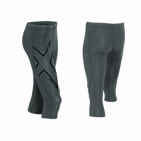 2XU Men's HYOPTIK COMPRESSION 3/4 TIGHTS - STL/SRF