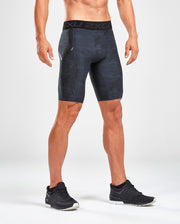 2XU MEN'S ACCELERATE PRINT COMPRESSION SHORT