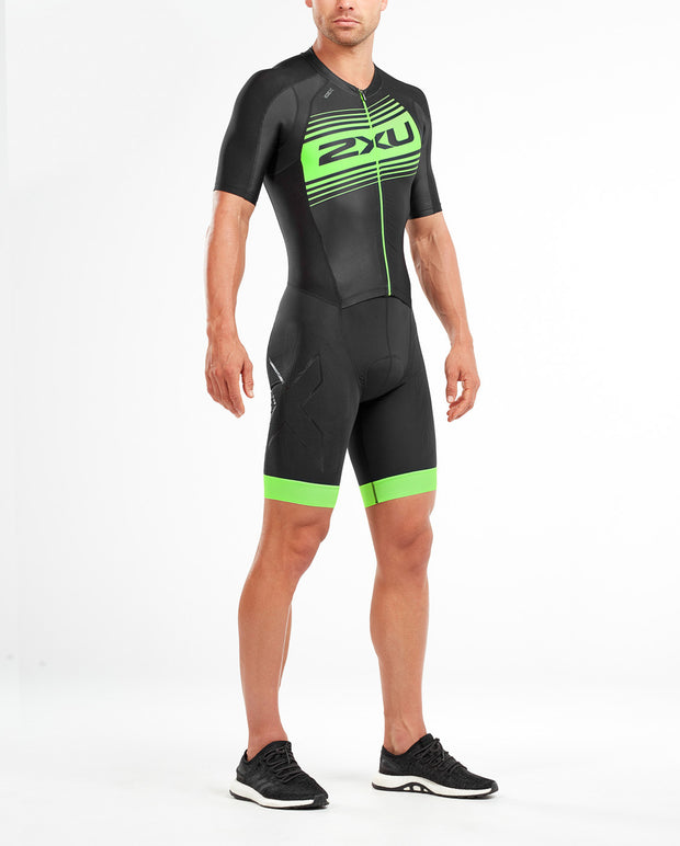 2XU MEN'S COMP FULL ZIP SLEEVED TRISUIT