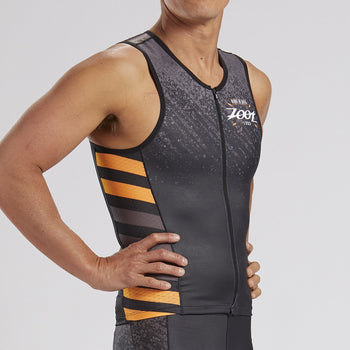 ZOOT MEN'S LTD TRI FULL ZIP TANK - ALOHA