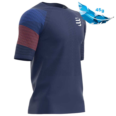 COMPRESSPORT RACING SS TSHIRT M - BLUE