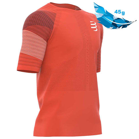 COMPRESSPORT RACING SS TSHIRT M - BLOOD ORANGE