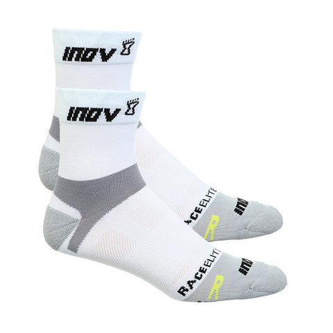 INOV-8 RACE ELITE TWIN PACK SOCKS - WHITE/GREY