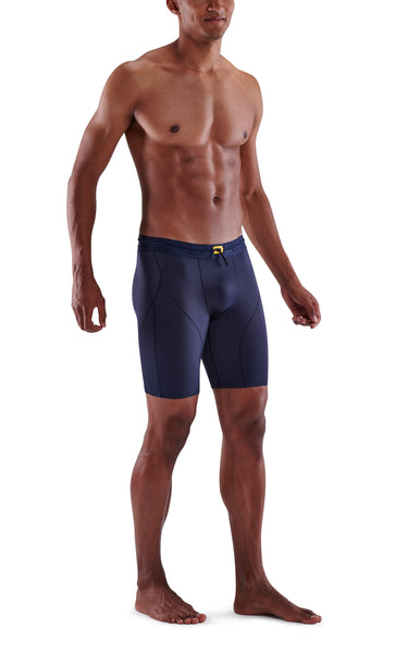SKINS Men's Compression Powershorts 5-Series - Navy Blue