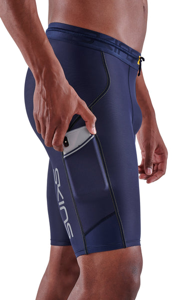 SKINS Men's Compression Half Tights 3-Series - Navy Blue [Pre-Order 2-6 Nov]