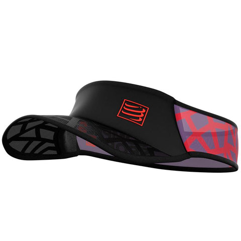 COMPRESSPORT SPIDERWEB ULTRALIGHT VISOR - RED / BLACK