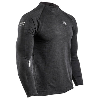 COMPRESSPORT TRAINING TSHIRT LS - BLACK