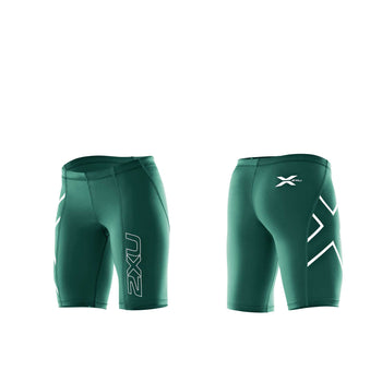 2XU Women's Compression Shorts - DARK GREEN