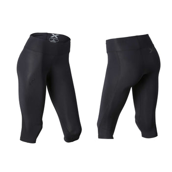 2XU Women's Mid-Rise Compression 3/4 Tights - Black DBK