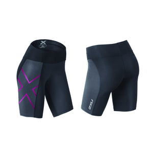 2XU WOMEN'S MID-RISE COMPRESSION SHORT WA3027B INK/CHP
