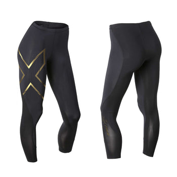 2XU WOMen's Elite MCS Compression Tights - Black Gold