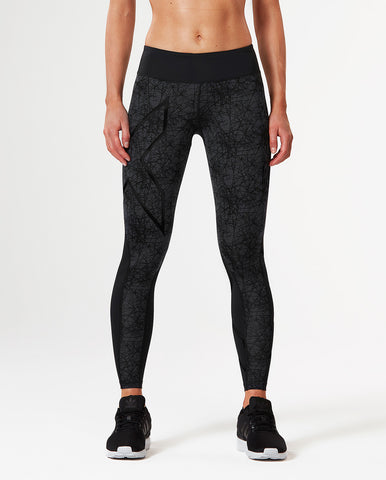 2XU WOMEN'S PATTERN MID-RISE COMPRESSION TIGHT