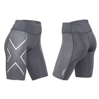 2XU WOMEN'S PTN MID-RISE COMP SHORTS