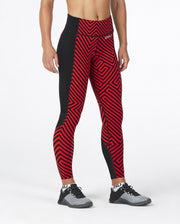 2XU WOMEN'S PATTERN FITNESS COMPRESSION TIGHTS