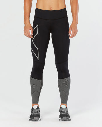 2XU Women's MID-RISE REFLECT COMPRESSION TIGHTS
