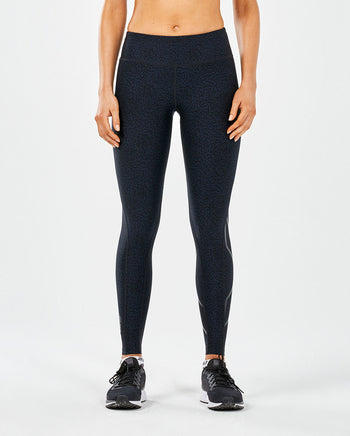 2XU WOMEN'S MID-RISE PRINT COMPRESSION TIGHTS
