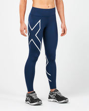 2XU WOMEN'S BONDED MID-RISE COMPRESSION TIGHTS