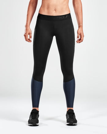 2XU WOMEN'S ACCELERATE COMPRESSION TIGHTS WITH STORAGE