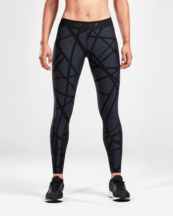2XU WOMEN'S PRINT ACCELERATE COMPRESSION TIGHTS