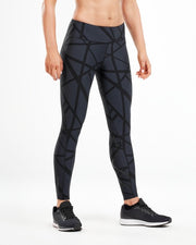 2XU WOMEN'S PRINT MID-RISE COMPRESSION TIGHTS