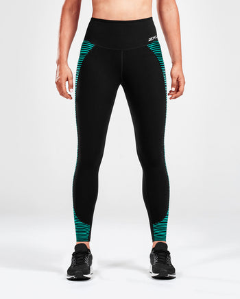 2XU WOMEN'S FITNESS HI-RISE COMPRESSION TIGHT PRINT