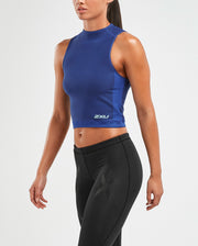 2XU WOMEN'S XCTRL RIBBED CROP TANK