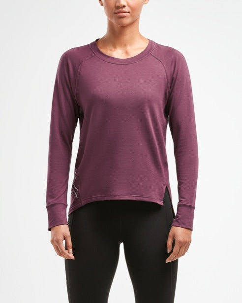 2XU WOMEN'S URBAN SIDE SPLIT L/S TOP