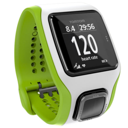 Runner Cardio GPS Watch - White/Green