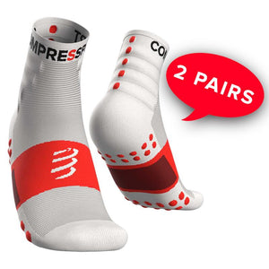 COMPRESSPORT TRAINING SOCKS-2 PACK - WHITE (XU00001B_001)