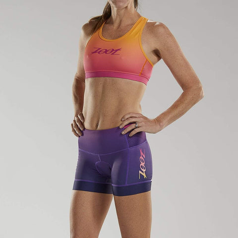 "ZOOT WOMENS LTD TRI 4"" SHORT - SUNSET"