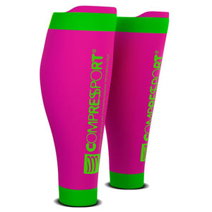 COMPRESSPORT R2V2 CALF SLEEVES - FLUO PINK