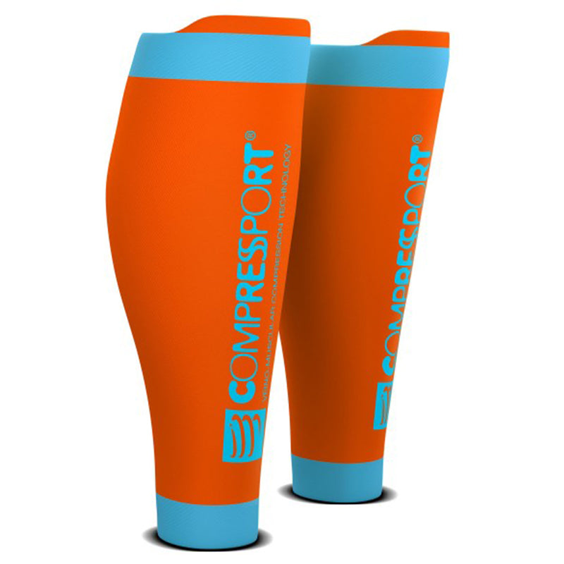 COMPRESSPORT R2V2 CALF SLEEVES - ORANGE
