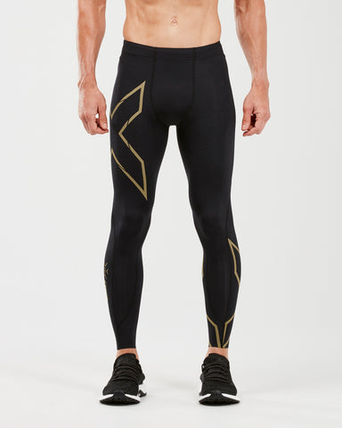2XU MEN'S MCS RUN COMPRESSION TIGHTS WITH BACK STORAGE