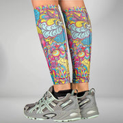 ZENSAH COMPRESSION LEG SLEEVES - SUMMER BLOOM