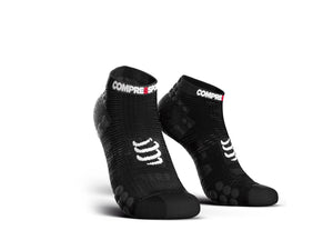 COMPRESSPORT PRO RACING SOCKS RUN LOW ASIA - BLACK/BLACK