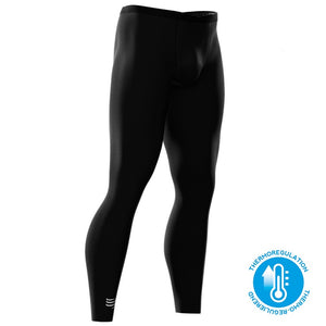 COMPRESSPORT UNISEX RUNNING UNDER CONTROL FULL TIGHTS - BLACK