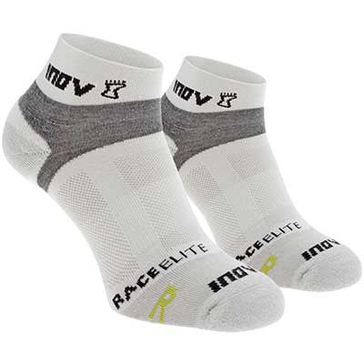 INOV-8 RACE ELITE LOW SOCKS - WHITE/GREY