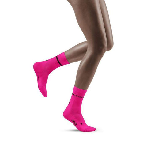 CEP Women's Compression Neon Mid Cut Socks WP2CCG
