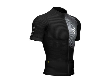 COMPRESSPORT MEN'S TRAIL RUNNING POSTURAL SS TOP - BLACK