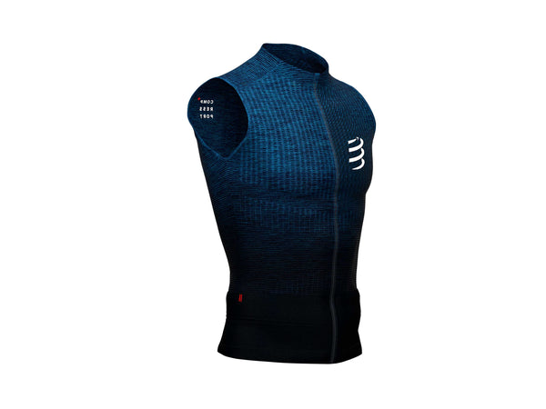 COMPRESSPORT UNISEX TRAIL RUNNING POSTURAL TANK TOP - BLUE MELANGE