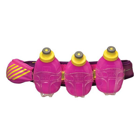 Nathan Mercury 3 Hydration Belt - Imperial Purple Floro Fuschia